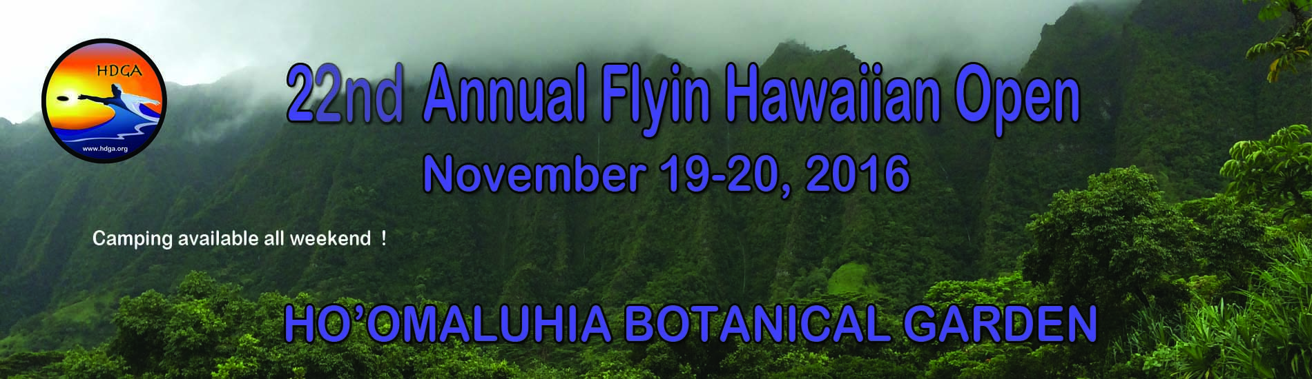 22nd. Annual Flyin Hawaiian Open Banner